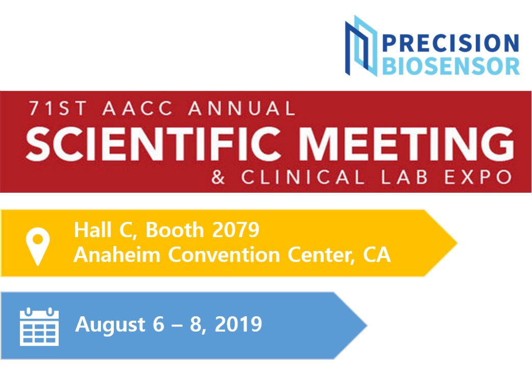 Precision Biosensor Exhibiting at AACC 2019